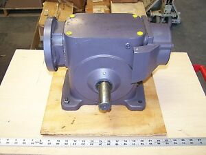 Browning 325c1 lr50fe Right Angle Worm Gear Gearbox Speed Reducer 50 1 Ratio New
