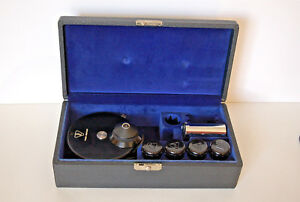 Vintage Bausch Lomb Phase Contrast Kit With Case 3 Objectives Cntr Telescope