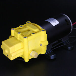 High Quality 80w 7bar Self Priming Water Pump 12v Sprayer Pump 80m Lift Max