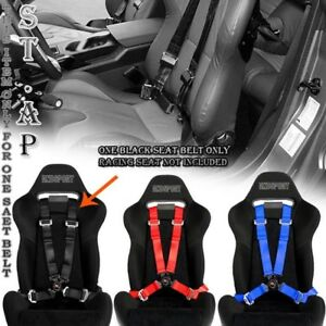 4 point Racing Safety Harness Camlock 2 In Strap Seat Belt belts Mounting Blk