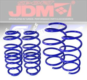 99 05 Vw Golf Jetta 4cyl Suspension Lowering Springs 1 8 Drop Coil Kit Blue
