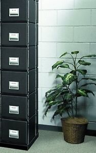 Bankers Box Staxon Steel Storage Drawers Letter 6 Pack 00511 Stacks Ten High
