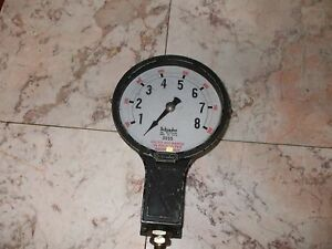 Steam Punk Vintage Schrader 6 Inch Hydrodial 100 To 800 Lbs Gage 3055