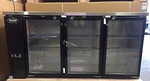 72 Back Bar Beer Cooler Refrigerator 6 3 Door Glass Cooler New Bottle Backbar
