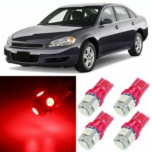 15 X Red Interior Led Lights Package For 2006 2013 Chevy Chevrolet Impala