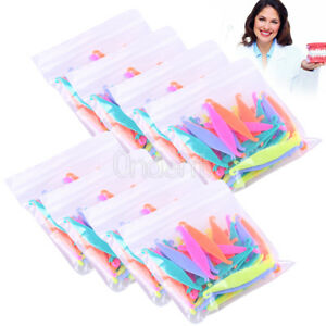 10 Bags Dental Ortho Plastic Elastic Rubber Band Pull Hook Opener Multi color
