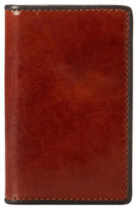 Bosca Old Leather Montreal Calling Card Case wallet Amber navy 441 123 Nwt