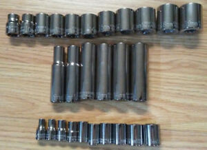 Craftsman Industrial Usa 3 8 1 4 Drive Metric Socket Set Premium Deep short