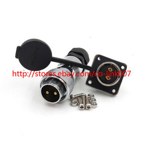 Ws20 2pin Waterproof Connector High Voltage Aviation Power Cable Connector Plug