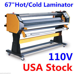 110v 67 Stand Frame Full auto Single Side Wide Format Hot cold Laminator stand