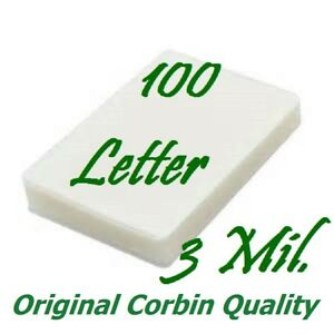 100 Letter Thermal Laminating Pouches Sheets 9 X 11 1 2 3 Mil Scotch Quality