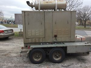 125 Kw Diesel Generator Trailer Built in Self Contain Fuel Tank And Low Hours
