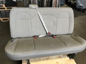 2008 2018 Chevy Express 3 Passenger Van Bench 2nd Row Gray Cloth Bench Seat Nto