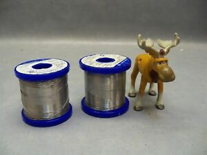 Solder Wire 015 Alpha Telecore Plus 63sn 37pb Cookson Electronics Lot Of 2