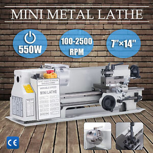 Mini Metal Lathe Machine Bed 550w Variable Speed 0 2500 Rpm