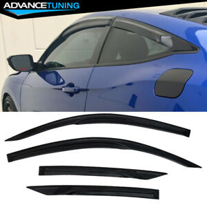 Fits 16 20 Honda Civic 2d 2dr Coupe Mugen Style Acrylic Window Visors 4pc Design