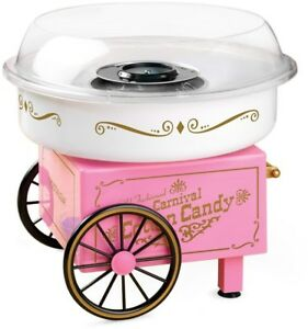 Cotton Candy Maker Tabletop Unit Hard Sugar free Sweets Easy Cleaning Clear Rim