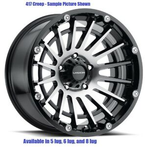 4 New 17 Wheels For Chevy Gmc Silverado 2500 3500 8 Lug 21864