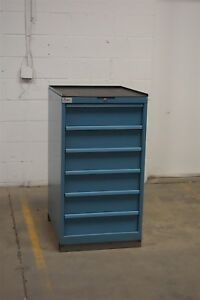 Used Lista 6 Drawer Cabinet 42 High 22 Wide Industrial Storage 1296 Vidmar