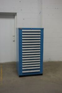 Used Lyon 17 Drawer Cabinet Industrial Tool Storage 1292 Vidmar
