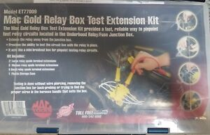 Used Waekon Mac Tools Gold Relay Box Test Extension Kit 77009 Very Good Cond