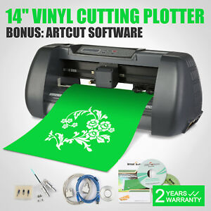 New 14 Vinyl Cutting Plotter Printer Desktop Cutter Artcut Machine Software Diy