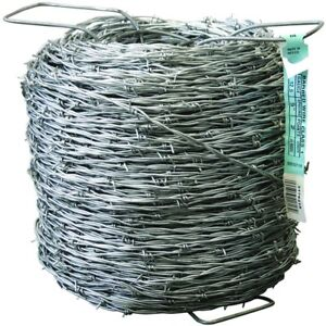 1320 Ft 12 5 Gauge 2 Point Galvanized Barbed Wire Fence Outdoor Privacy Barrier