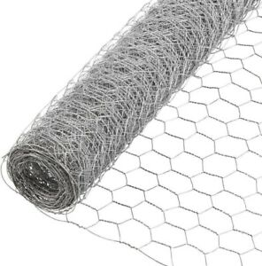 6 X 50 Ft Galvanized Metal Poultry Netting Mesh Weave Yard Fence Screen Barrier