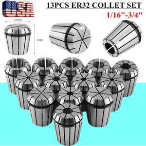 Er32 Spring Chuck Collet 13pc Set 1 16 3 4 Inch By 16th Precision New Oy