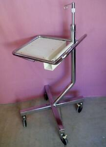 Coopervision Medical Cryosurgical Surgical Equipment Monitor Cart Stand Iv Pole