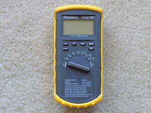 Omega Hh501dk Handheld Digital Thermometer Type K Thermocouple