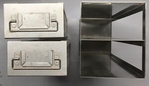 Stainless Steel Upright Freezer Drawer Racks For Sample 2 Drawers 22 x5 5 x6 5