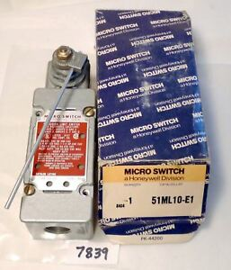 7839 Micro Switch Limit Switch 251ml10 e1 Actuator Style Hinge Lever