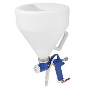 Air Texture Hopper Spray Gun Ceiling Wall Paint Drywall Painting Tool Pneumatic