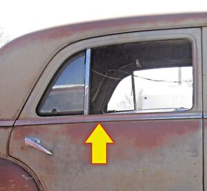 1950 Plymouth Special Deluxe 4 Door Sedan Right Rear Stainless Steel Moulding
