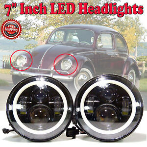 For Volkswagen Vw Beetle Classic 7inch Round Led Upgrade Drl Headlights