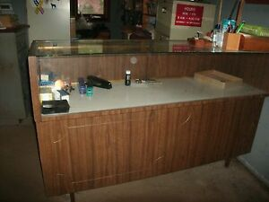 Glass Wood Furniture Display Case