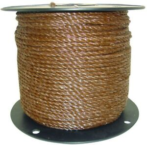 11 Ft Heavy Duty Brown Polyrope Wire Horse Fence Livestock Supply Animal Barrier