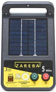 0 1 Joules Heavy Duty Livestock Farm Electric Fence Wire Energizer Solar Powered