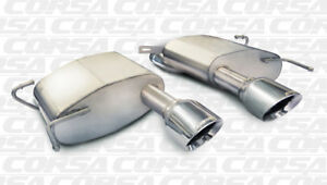 Corsa Axle back Sport Exhaust For 11 15 Cadillac Cts Coupe V 6 2l V8 Polished