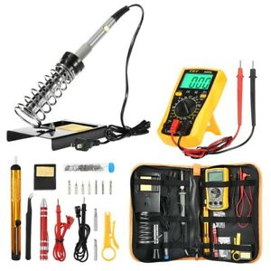 Digital Electric Soldering Iron Kit Complete Set 60w 900m t b 110v 143cm Cable