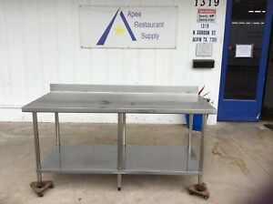 Stainless Steel 72 X 29 Work Table prep Table W undershelf 3031