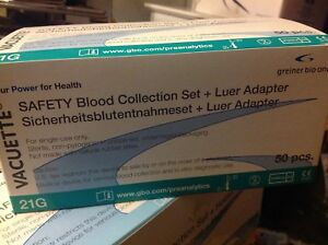 2 Boxs Of 50 Vacuette Set Blood Collection W Luer Adapter 21x3 4