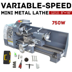 Woodworking 8 X 16 750w Variable speed Mini Metal Lathe Bench us Stock
