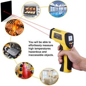 Dual Laser Infrared Thermometer Temperature Non contact Surface Digital 58 12