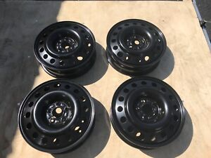 2005 2006 2007 2008 2009 Ford Mustang Oem Black Steel Wheels Rims 4r3z1007la