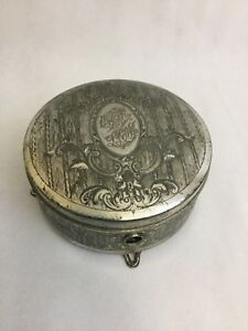 Derby Silver Co Antique Jewelry Box Claw Feet Rare