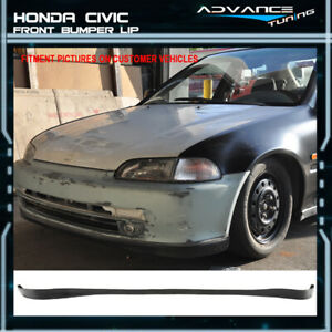 For 92 95 Honda Civic 2dr 3dr Oe Sir Style Pu Front Bumper Lip Spoiler