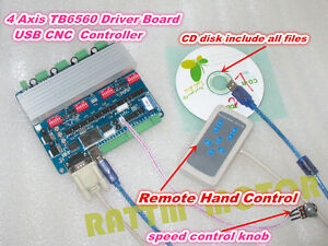 4 Axis Tb6560 Nema23 Stepper Motor Driver Usbcnc Controller Board For Cnc Router