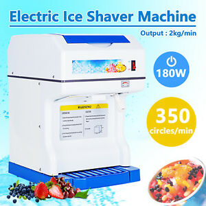 Kuppet Modern Electric Ice Crusher Ice Shaver Machine Snow Cones Maker Tabletop